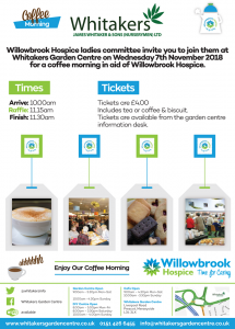 Willowbrook Coffee Morning - Whitakers Garden Centre