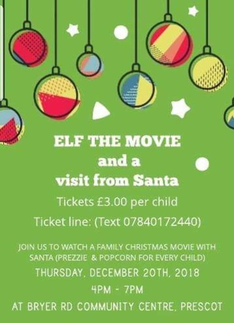 Elf the Movie and visit from Santa