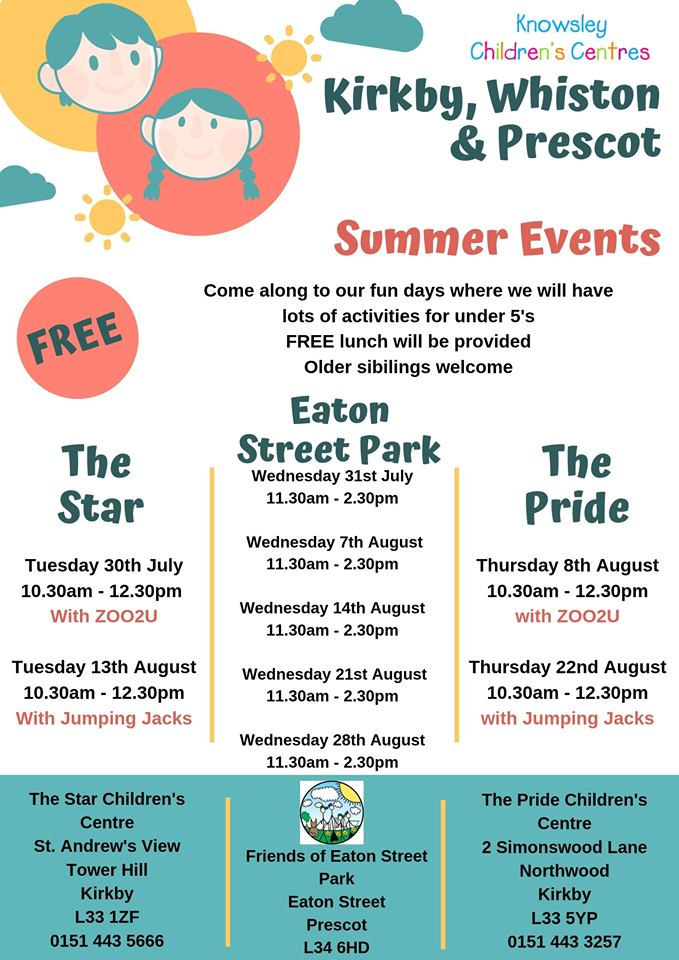 Fun Day's for under 5's with FREE lunch provided