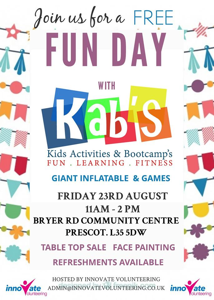 FREE Fun Day with Kab's (Kids Activities & Bootcamp's)