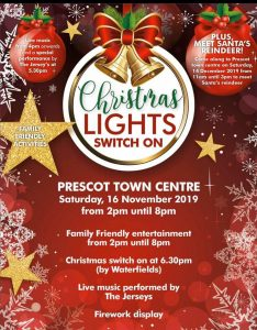 Christmas Lights Switch On - Prescot Town Centre