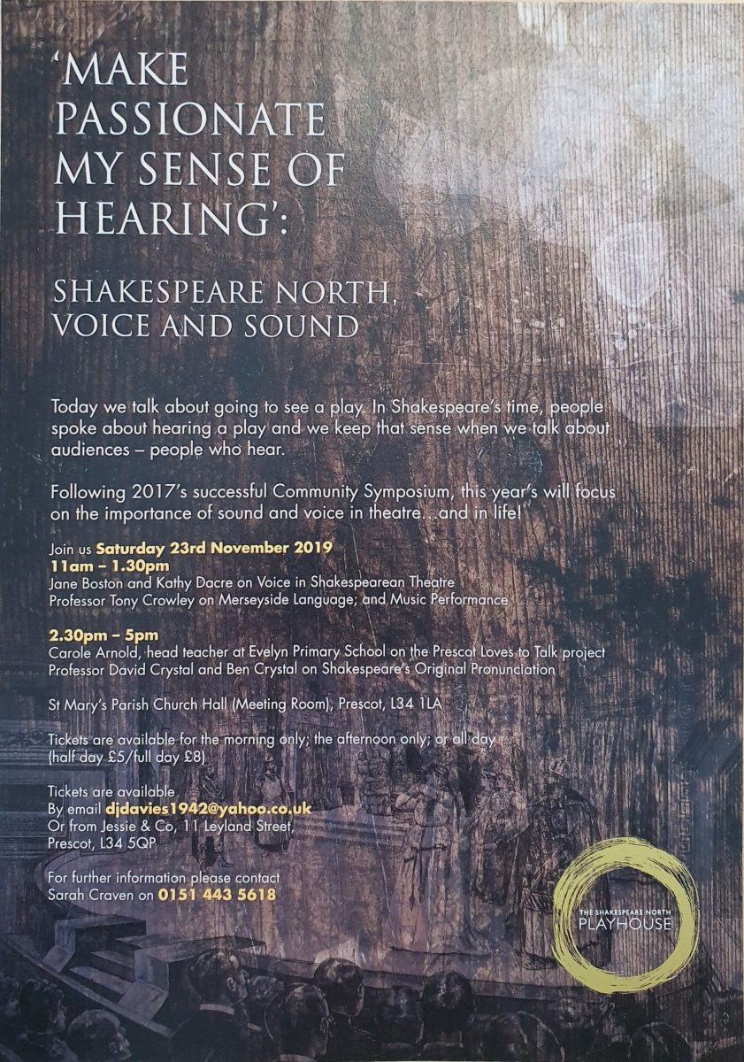 Make Passionate My Sense of Hearing - Shakespeare North Voice and Sound